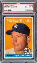 Baseball Cards:Singles (1950-1959), 1958 Topps Mickey Mantle #150 PSA NM-MT 8....
