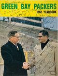 Football Collectibles:Publications, 1965 Green Bay Packers Team Signed Yearbook - Dave Robinson's Personal Copy. . ...