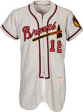 Baseball Collectibles:Uniforms, 1953 Hank Ertman Game Worn Boston Braves Jersey - Used in Spring Training Before Move to Milwaukee. ...
