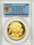 Modern Bullion Coins, 2010-W $50 One-Ounce Gold Buffalo, .9999 Fine Gold PR70 Deep Cameo PCGS Secure. PCGS Population: (1137 and 0+). NGC Census:...