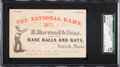 Baseball Collectibles:Others, 1871 H. Harwood & Sons Base Ball and Bats ManufacturerAdvertising Card, SGC 84 NM 7....