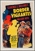 "Movie Posters:Western, Border Vigilantes (Paramount, 1941). One Sheet (27"" X 41""). Western.. ..."