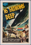 "Movie Posters:Adventure, 16 Fathoms Deep (Monogram, 1948). One Sheet (27"" X 41"").Adventure.. ..."