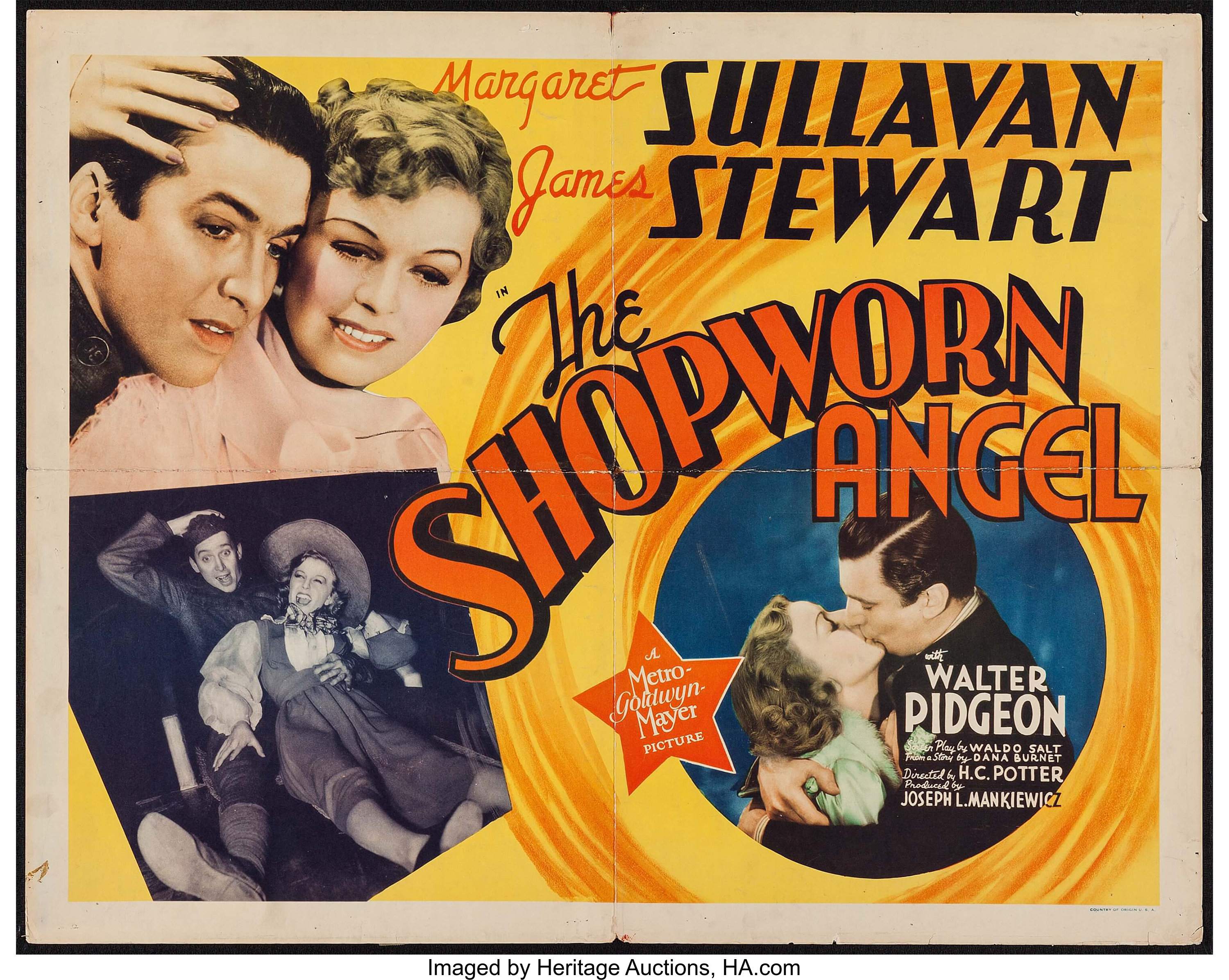 "The Shopworn Angel (MGM, 1938). Half Sheet (22"" X 28""). Romance ..."