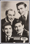 """Movie Posters:Musical, The Ames Brothers (Coral Records,1950s). Record Promo Poster (20"""" X 30""""). Musical.. ..."""