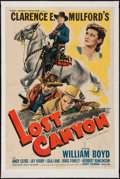 "Movie Posters:Western, Lost Canyon (United Artists, 1942). One Sheet (27"" X 41""). Western.. ..."