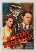 "Movie Posters:Mystery, Mystery Broadcast (Republic, 1943). One Sheet (27"" X 41"").Mystery.. ..."