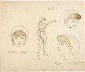 animation art:Model Sheet, Jonny Quest Jezebel Jade Model Sheet Print and FlintstonesCrossover Presentation Art Group (Hanna-Barbera, 1964-91)....(Total: 2 )