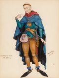 Mainstream Illustration, Arthur Szyk (American, 1894-1951). The Reeve, Canterbury Talesinterior book illustration, 1945. Gouache on board. 6.75 ...
