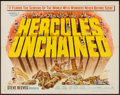 "Movie Posters:Action, Hercules Unchained (Warner Brothers, 1960). Half Sheet (22"" X 28"").Action.. ..."