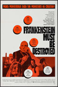"""Movie Posters:Horror, Frankenstein Must Be Destroyed (Warner Brothers, 1970). One Sheet (27"""" X 41"""") & Lobby Card (11"""" X 14""""). Horror.. ... (Total: 2 Items)"""