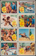 "Movie Posters:Adventure, East of Sudan (Columbia, 1964). Lobby Card Set of 8 (11"" X 14"").Adventure.. ... (Total: 8 Items)"