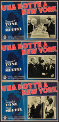 "Movie Posters:Mystery, One New York Night (MGM, 1940s). First Postwar Release ItalianLobby Cards (3) (13"" X 19""). Mystery.. ... (Total: 3 Items)"