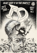 Original Comic Art:Covers, Robert Crumb ID #2 Cover Original Art (Eros/Fantagraphics, 1991)....