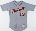 Baseball Collectibles:Uniforms, 2015 Anibal Sanchez Game Worn Detroit Tigers Jersey with MLBHologram. ...
