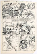 Original Comic Art:Panel Pages, Herb Trimpe and Barry Windsor-Smith Machine Man #3 StoryPage 19 Original Art (Marvel, 1984)....