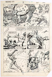 Herb Trimpe and Barry Windsor-Smith Machine Man #3 Story Page 19 Original Art (Marvel, 1984)