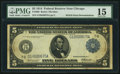 Error Notes:Double Denominations, Fr. 868 $5/$10 1914 Federal Reserve Note PMG Choice Fine 15.. ...