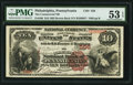 National Bank Notes:Pennsylvania, Philadelphia, PA - $10 1882 Brown Back Fr. 480 The Commercial NB ofPennsylvania Ch. # 556. ...