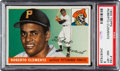 Baseball Cards:Singles (1950-1959), 1955 Topps Roberto Clemente Rookie #164 PSA NM-MT 8. ...