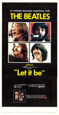 "Movie Posters:Rock and Roll, Let It Be (United Artists, 1970). Three Sheet (40.5"" X 79.25"")....."