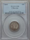 Early Dimes: , 1805 10C 5 Berries Good 6 PCGS. PCGS Population: (7/37). ...