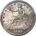 Proof Trade Dollars, 1882 T$1 PR64 Cameo PCGS. CAC....
