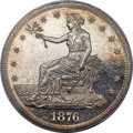 Proof Trade Dollars, 1876 T$1 PR64 Cameo PCGS. CAC....