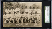 1932 Harrison Studio Pittsburgh Crawfords Real Photo Postcard SGC 60 EX 5--Only Example Known!