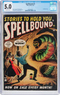 Golden Age (1938-1955):Horror, Spellbound #3 (Atlas, 1952) CGC VG/FN 5.0 Off-white pages....