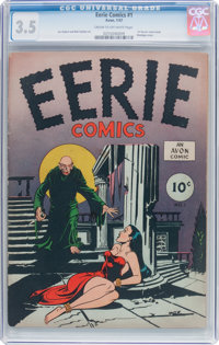 Eerie #1 (Avon, 1947) CGC VG- 3.5 Cream to off-white pages