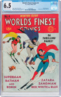 Golden Age (1938-1955):Superhero, World's Finest Comics #4 (DC, 1941) CGC FN+ 6.5 Off-white to white pages....