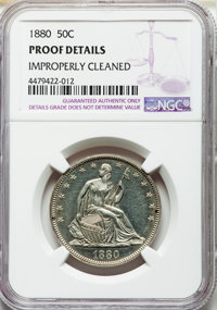 1880 50C -- Improperly Cleaned -- NGC Details. Proof. NGC Census: (3/282). PCGS Population: (13/351). CDN: $450 Whsle. B...