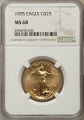 Modern Bullion Coins, 1995 $25 Half-Ounce Gold Eagle MS68 NGC. NGC Census: (183/2676). PCGS Population: (158/638). Mintage 53,474. ...