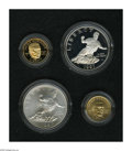 1997 G$5 Jackie Robinson Silver and Gold Proof and Uncirculated Set Uncertified. The certificate of authenticity and pre...