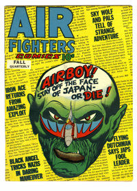 Air Fighters Comics V2#8 (Hillman Fall, 1944) Condition: FN+. Striking World War II cover art from Bob Fujitani. Airboy...