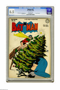 Golden Age (1938-1955):Superhero, Batman #33 (DC, 1946) CGC FN+ 6.5 Off-white pages. Yuletide yuks are the order of the day on Dick Sprang's cover... by the w...