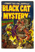 Golden Age (1938-1955):Horror, Black Cat Mystery #42 (Harvey, 1953) Condition: GD/VG. Harveypre-code horror books produced some wicked covers. Here is a g...