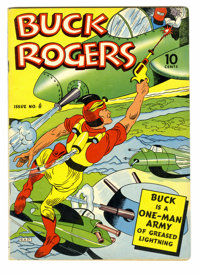 Buck Rogers #4 (Eastern Color, 1942) Condition: FN. Contains reprints from Sunday comic strips. Rick Yager art. from Ove...