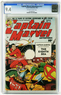 Golden Age (1938-1955):Superhero, Captain Marvel Adventures #111 (Fawcett, 1950) CGC NM 9.4 Off-white to white pages. Overstreet 2005 NM- 9.2 value = $270. CG...
