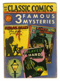 Golden Age (1938-1955):Classics Illustrated, Classic Comics #21 Three Famous Mysteries - Original Edition(Gilberton, 1944) Condition: VG. This issue features three famo...