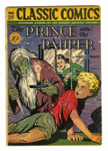 "Golden Age (1938-1955):Classics Illustrated, Classic Comics #29 The Prince and the Pauper - First Edition(Gilberton, 1946) Condition: VG. Original Edition with ""horror""..."