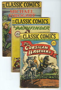 Classic Comics First Edition Group (Gilberton, 1944-47) Condition: Average VG/FN. This six-issue group (which averages V...
