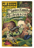 Golden Age (1938-1955):Classics Illustrated, Classics Illustrated #42 Swiss Family Robinson - First Edition(Gilberton, 1947) Condition: VF-. Very nice copy. Original Ed...