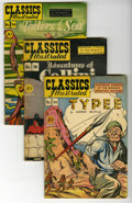 Golden Age (1938-1955):Classics Illustrated, Classics Illustrated First Edition Group (Gilberton, 1947-49)Condition: Average FN+. This great-looking group consists of f...(Total: 4 Comic Books)