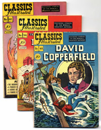 Classics Illustrated First Edition Group (Gilberton, 1948-54) Condition: Average VF-. A nice collection of nine Classics...