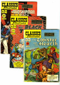 "Golden Age (1938-1955):Classics Illustrated, Classics Illustrated Group (Gilberton, 1949-50) Condition: Average VG/FN. Includes #66 (""The Cloister and the Hearth""), 73 (... (Total: 3 Comic Books)"