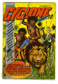 Cyclone Comics #3 (Bilbara, 1940) Condition: VG. This comic has two collectible facets about it: Overstreet has deemed i...