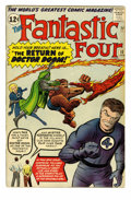Silver Age (1956-1969):Superhero, Fantastic Four #10 (Marvel, 1963) Condition: Apparent FN-. Doctor Doom appearance. Stan Lee and Jack Kirby appear as charact...