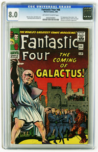 Fantastic Four #48 (Marvel, 1966) CGC VF 8.0 Off-white to white pages. A Stan Lee and Jack Kirby masterpiece. First appe...
